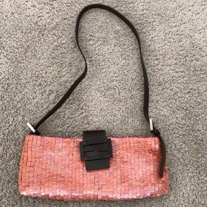 FENDI Sequin Embellished Baguette Shoulder Bag